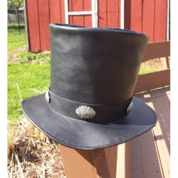 GENUINE LEATHER TOP HAT FOR WOMEN