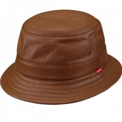 SUPREME LEATHER CRUSHER BUCKET HAT