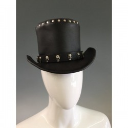 GENUINE LEATHER TOP HAT FOR MEN AND WOMEN
