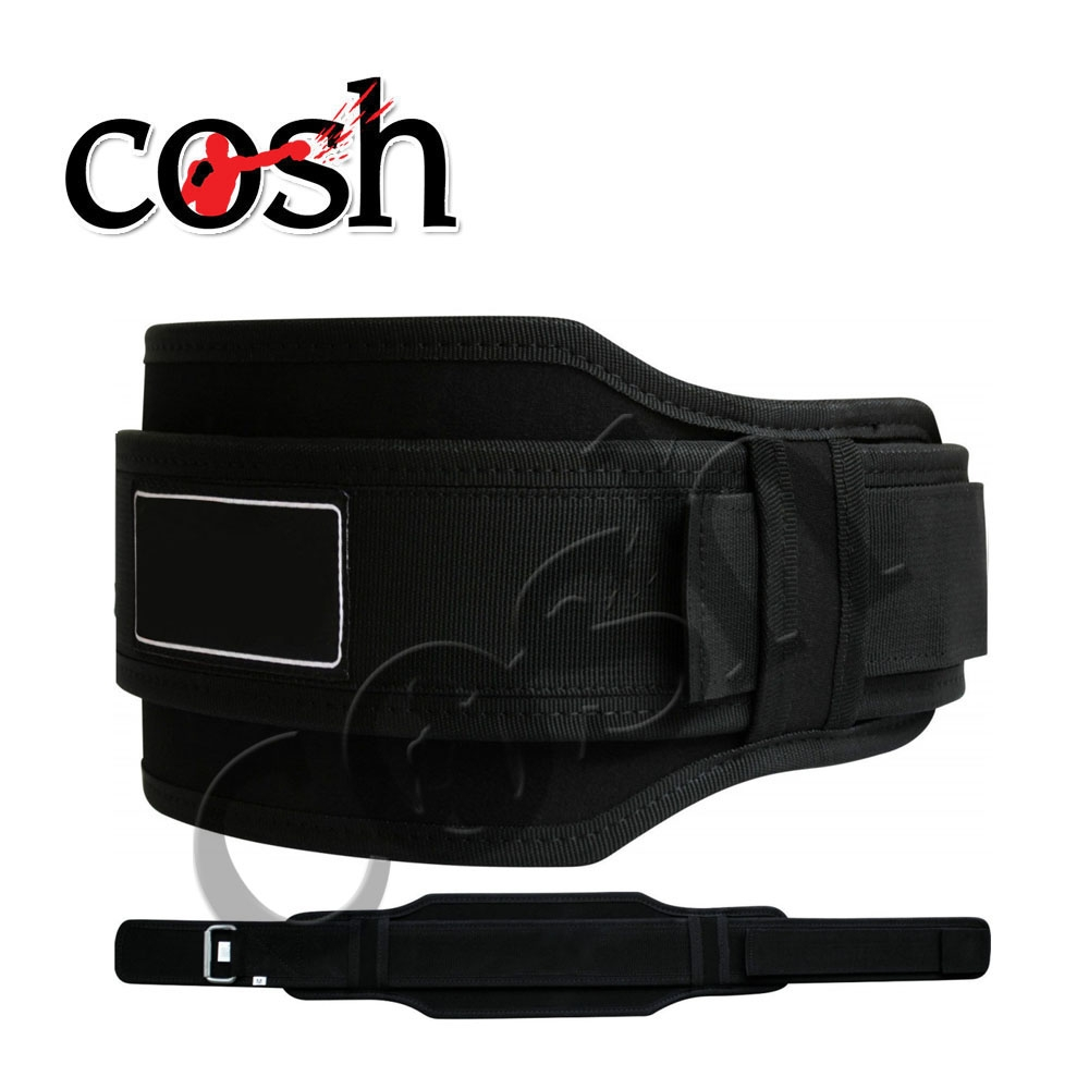 Unisex Leather Made Black Neoprene Bodybuilding Fitness Belt