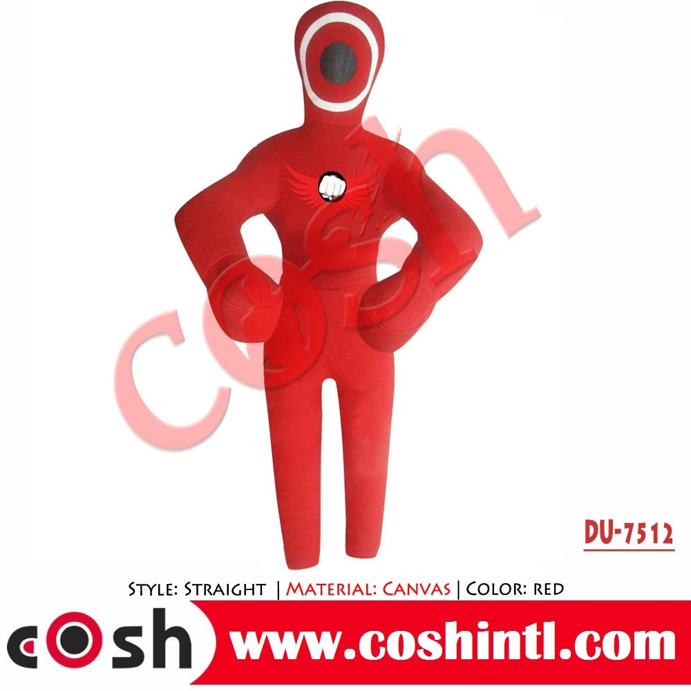 Red Synthetic Leather Standing Style MMA Grappling Dummy