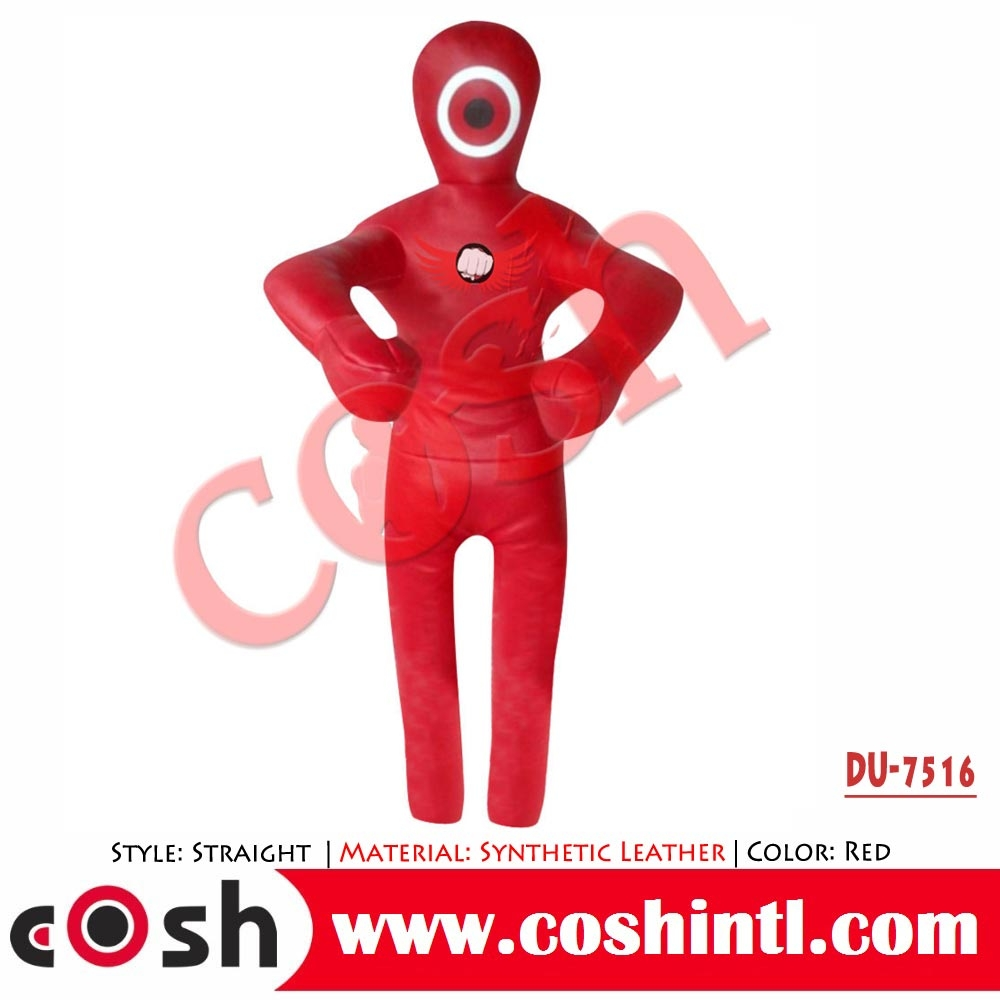 Red Leather Made Brazilian Jiu Jitsu Dummy