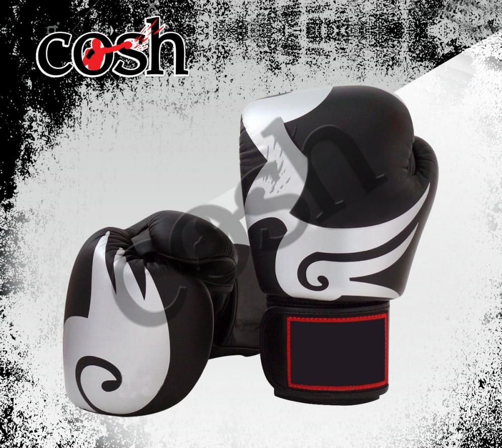 Muay Thai Black And White Boxing Gloves