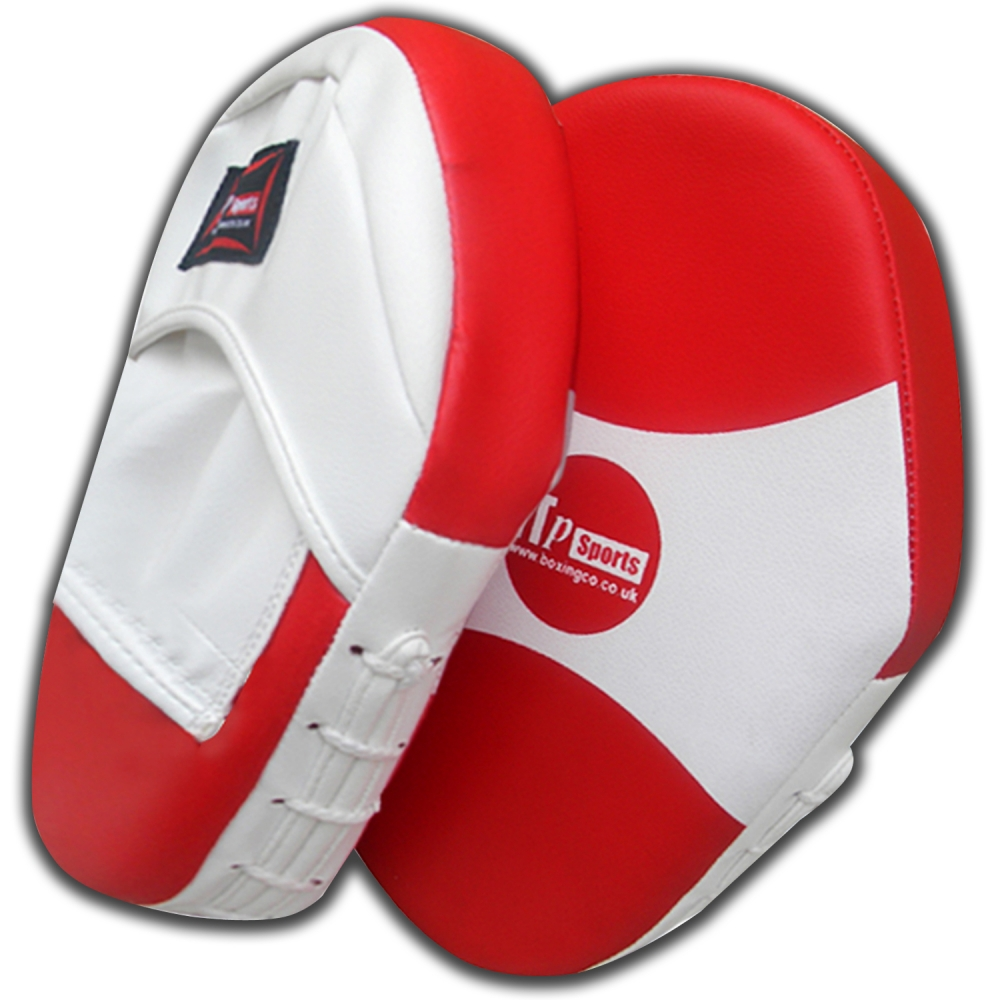 High Grade Red And White PU Leather Kick Boxing Focus Pads For Training