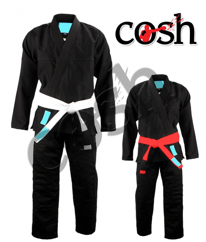Black Kimono With Printed Lining, Fighting Wear, Online Gi Supplier Cosh-Int